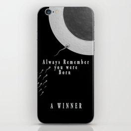 Born A Winner iPhone Skin