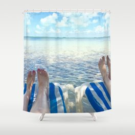 Lovers Toes over Key Largo Shower Curtain