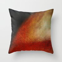 planet Throw Pillows featuring Planet by Emma Harckham