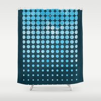 snow Shower Curtains featuring Snow by Last Call