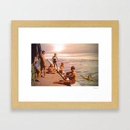 Over the clouds Framed Art Print
