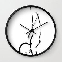 Yoga Handstand Wall Clock