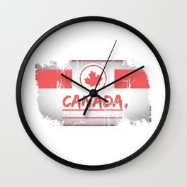 Canada Please Kidnap Me Canadian Maple Leaf  Wall Clock