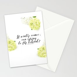 Hope for Spring in the Winter Stationery Cards
