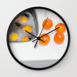 Persimmons and Oranges Wall Clock