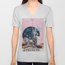Strength Tarot Card Unisex V-Neck