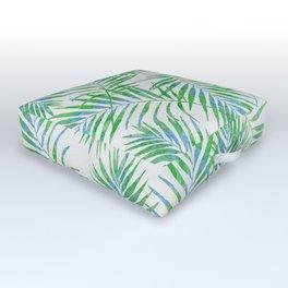 Fern Leaves Grey Outdoor Floor Cushion
