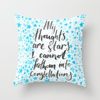 tfios Throw Pillows featuring TFIOS by IndigoEleven