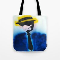 suits Tote Bags featuring SUITS by Clay Bakkum