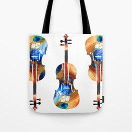 Violin Art By Sharon Cummings Tote Bag