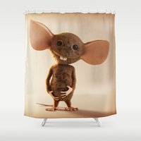rat Shower Curtains featuring Rat by timecore
