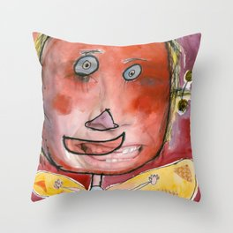 I feel excited Throw Pillow