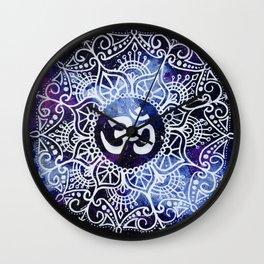 Om Galaxy Mandala Wall Clock