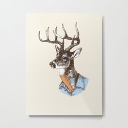Lucienne the crying deer (with tattoos) Metal Print