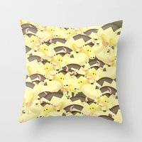 cows Throw Pillows featuring Cows by Ana Elisa Granziera