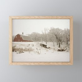 Winter farmstead Framed Mini Art Print