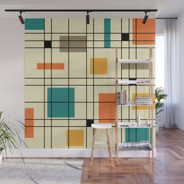 1950's Abstract Art Wall Mural
