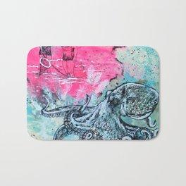 Octopus and Two Women Bath Mat
