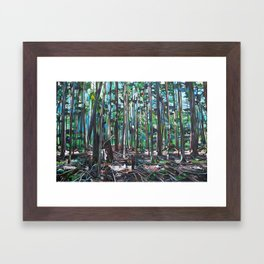 Galiano Forest Floor (2012) Framed Art Print