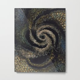10 BILLION THUMBS Metal Print
