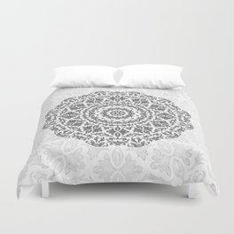 Bohemian Glittering Floral Mandala Duvet Cover