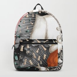 White Queen_Geometry Flowers Backpack