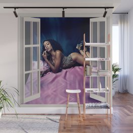 Ebony Bombshell  | OPEN WINDOW ART Wall Mural