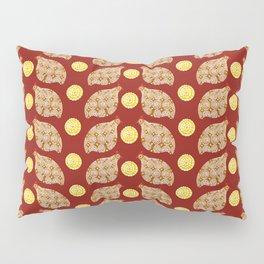 Glod guinea fowl pattern on brown Pillow Sham