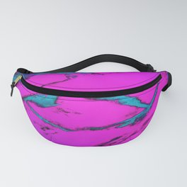 Fractured anger pink Fanny Pack