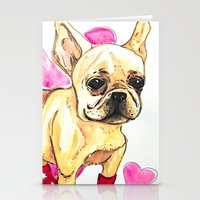 frenchie Stationery Cards featuring Frenchie by AnnaToman