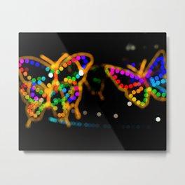 Bokeh Butterfly Modern Photograph Metal Print