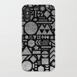 Modern Elements with Black. iPhone Case