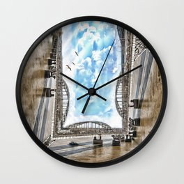 Möbius Bridge Wall Clock