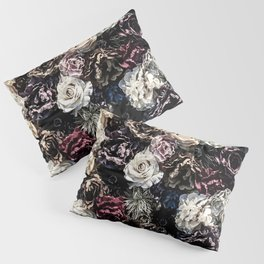 Flower Wall // Desaturated Vintage Floral Accent Background Jaw Dropping Decoration Pillow Sham