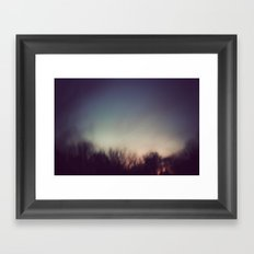 A Blur Framed Art Print