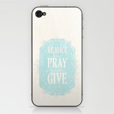 1 Thes. 5:16-18 iPhone & iPod Skin