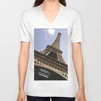 eiffel tower V-neck T-shirts featuring Eiffel Tower by caroline