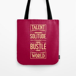 Lab No. 4 Talent Is Formed Johann Goethe Life Motivational Quotes Tote Bag