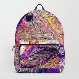 guinea pig couple vector art purple Backpack