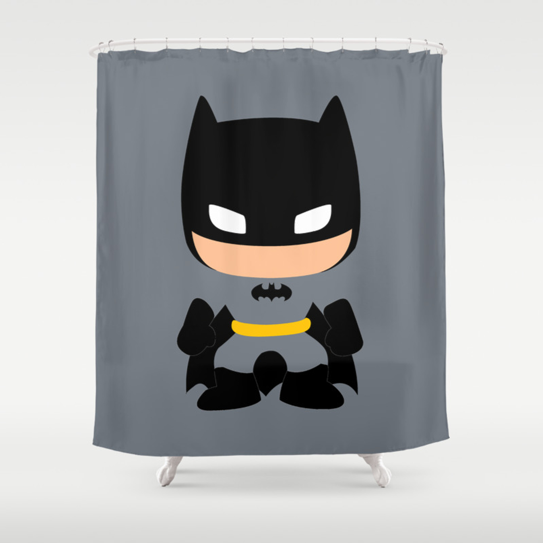 Dark knight shower curtain - Dark Knight Shower Curtain 17