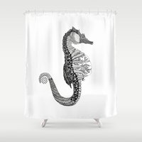 seahorse Shower Curtains featuring SEAHORSE by VOLPINE