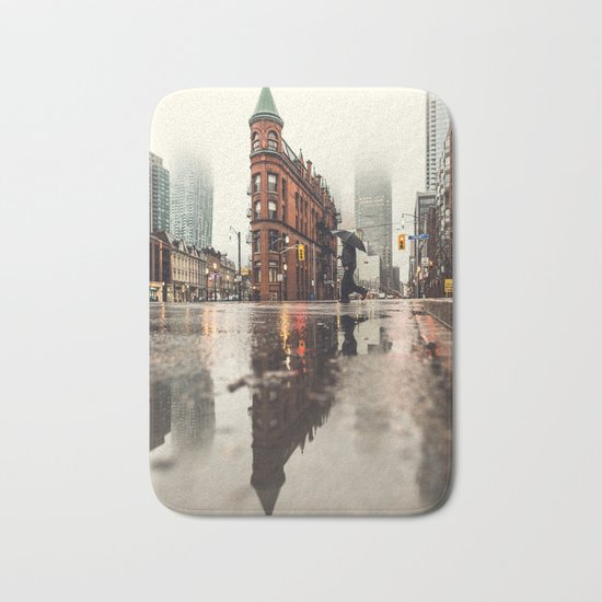 RAIN - WET - MAN - LIGHT - STREET - PHOTOGRAPHY Bath Mat