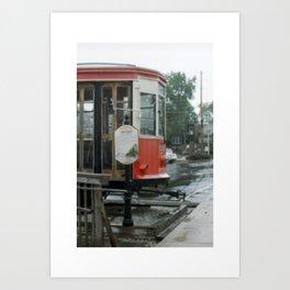 Train in z rain Art Print