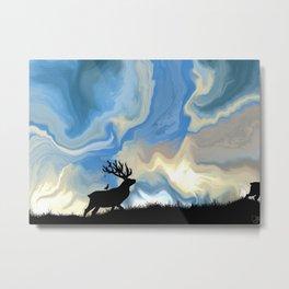 Elks Morning Saunter Metal Print