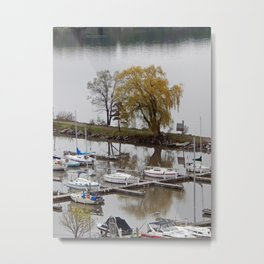 Weeping Willow and the Marina Metal Print