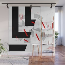 black and white meets red Version 10 Wall Mural