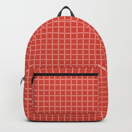 Modified Grid Pattern in Coral and Peach Backpack