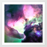 nebula Art Prints featuring Pastel nebULa by 2sweet4words Designs