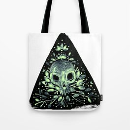 triangular sprouting skull Tote Bag