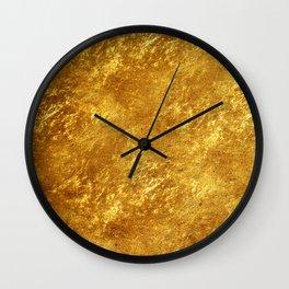 Gold Flake Wall Clock